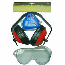 HAWK KT1 - Ventilated Safety Goggle, Ear Protection, Gauze Breathing Mask