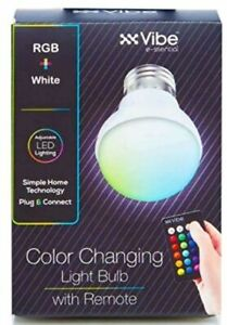 TikTok Vibe 4 Mode 15 Color Changing LED RGB + White E26/E27 Light Bulb & Remote