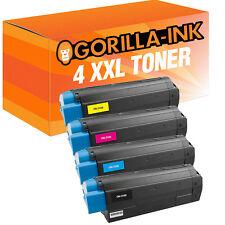 Set 4 Toner XXL for Oki C3100 C3200 N C5100 n C5200 n C5300 C5400 n C5450 C5510