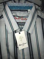 """$198 Robert Graham """"Glendora"""" Striped Tailored Fit Men's Shirt,Sz XL."""