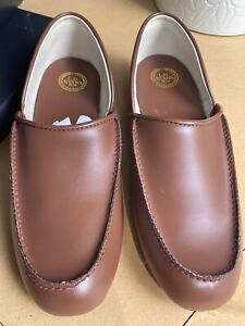 LB Evans Chicopee Classic Brown Leather Slippers Men's Sz 14 N - New