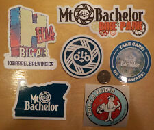 6 diff Mt Bachelor Ski Area Stickers Snowboard Hella Big Air Oregon Decal