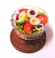 1:12 Handmade Egg Salad In A 2cm Plastic Dish Dolls House Kitchen Food Accessory