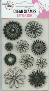 NEW Clear Acrylic Craft Stamp Set Sunflower.