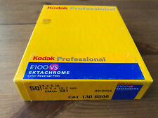 50x Kodak E100VS 100 4X5 sealed box color ektachrome sheet film E100 VS 45