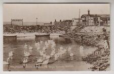 Dorset postcard - Weymouth Swans & Melcombe Regis Railway Station - RP