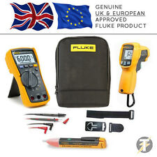 Fluke 115 True RMS Multimeter KIT95, 62 MAX PLUS Thermomètre, TPAK 3, 1AC & Case