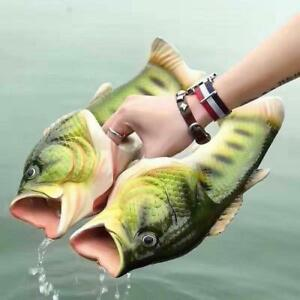 Funny Slippers Footwear House Shoes Large Size 33-47 Summer Beach Fish Slippers