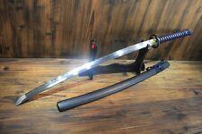 Japanese T10 Clay Tempered Kirakira  Musashi Katana Samurai Sword Full Tang