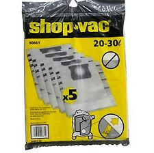 10 GENUINE SHOPVAC VACUUM CLEANER BAGS SUIT ALL SHOP VAC 20 AND 30 LITRE VACS