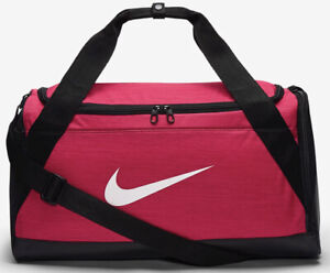 Nike Brasilia Training Duffel Bag Gym Sports Holdall Football Kit New Pink 40L