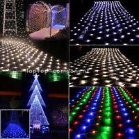 LEDs String Fairy Lights Net Mesh Curtain Light Xmas Party Wedding Decor Lamps