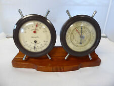 Vintage Airguide Combo Humidity Temperature & Barometer Ships Wheels Instrument