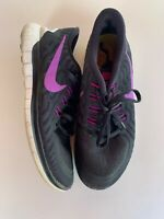 Nike Free 5.0 Athletic Running Shoes Black/Purple - Women's Size 9 (724383-007)