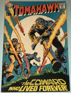 Tomahawk #120 VG/F 1969 DC Comic Book Silver Age Western Nick Cardy Cover