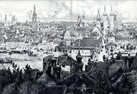 Würzburg XXL Kunstdruck 1906 von Hermann Braun * in Hausberge Minden