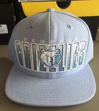 NWT New Pastel Blue Mitchell & Ness Memphis Grizzlies  Snapback Hat Cap