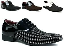 MENS BOYS NEW CASUAL LACE UP WEDDING PARTY LOW HEEL FORMAL SHOES UK SIZES 6-11