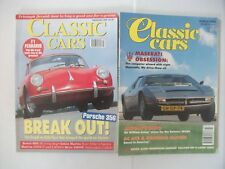 Classic Cars Magazine x 2, March 1994 & Sept 1996, Porsche, Maserati.