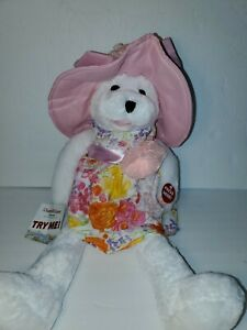 Musical Chantilly Lane Bear Named Flora Bear Sings What A Wonderful World