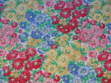 "Vintage Fabric Full of  Flowers   Fabric 43"" x 37"" BTY  no:59"