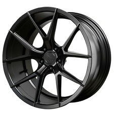 Staggered Verde Axis Front:20x9,Rear:20x10.5 5x115 +20mm Black Wheels Rims