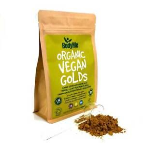 BodyMe Organic Vegan Golds Powder   270g   Super Turmeric Blend   30 Servings