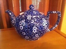STAFFORSHIRE Crownford -  CALICO BLUE Chintz 4 Cup TEAPOT