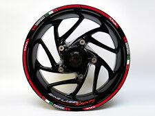 Rim Autocollants Kit 710018 Italie Course Vélo Voiture Design 16,17 et 18 Pouces