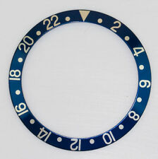 BEZEL INSERT FOR & FITS ROLEX GMT MASTER WATCH BLUE SILVER CASES INSERT PART