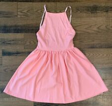 Fancyinn Dress Sexy Spaghetti Strap Mini Casual Dress Sz Small Light Pink NEW