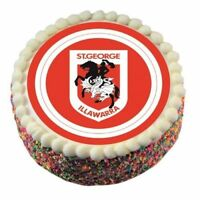 40286 ST GEORGE DRAGONS NRL TEAM EDIBLE IMAGE CAKE TOPPER BIRTHDAY PARTY