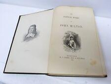Antiquarian 19C Victorian 1891 Book The Poetical Works of John Milton, Edinburgh