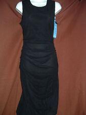 Spanx 1898 Star Power Bod A Bing Draped Dress - Bold Black Sz M New w Tags Z2