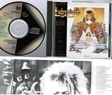 DAVID BOWIE Labyrinth Soundtrack JAPAN CD CP32-5155 1A1 TO BLACK TRIANGLE 1986
