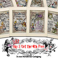 ALICE IN WONDERLAND Dictionary Page ART PRINT Vintage Antique PICTURE QUOTE