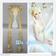 Hot new ladies wig Mixed golden Sailor Moon Tsukino Usagi cosplay Party wig