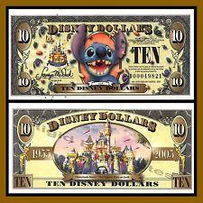 "Disney 10 Dollars, 2005 Series ""D"" Stitch ""No Barcode"" Disneyland Uncirculated"