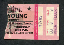 Original 1976 Neil Young & Crazy Horse Concert Ticket Stub Houston TX