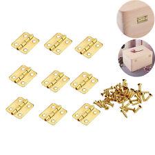 50/100pcs Small Mini Decorative Jewelry Box Hinges Brushed Brass+Nails AU