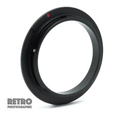 58mm Macro Reverse Lens Adapter Ring For Canon EOS EF EFS Mount - UK Stock