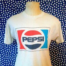 Distressed vintage 1980's Pepsi t-shirt SOFT & THIN Screen Stars Farmington 1989