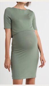 New Look Maternity Khaki Layered Nursing dress. 10,12,14,16,18,20.BNWT