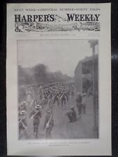 Boer War British Naval Brigade Through Ladysmith Harper's Weekly 1899 Original