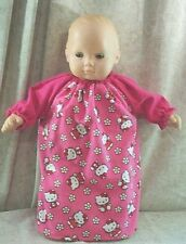 """Doll Clothes Baby Made 2 Fit American Girl 15"""" Bitty Nightgown Hello Kitty Pink"""