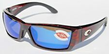 COSTA DEL MAR Corbina POLARIZED Sunglasses Tortoise/Blue Mirror Global Fit NEW