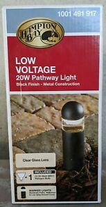 Hampton Bay Pathway Light Outdoor Halogen Bollard Light 1001 491 917 Black