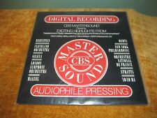 Various - CBS Mastersound Highlights — Sealed Audiophile Pressing Factory Sealed
