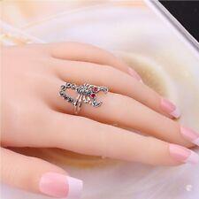 Fashion Metal Women Scorpion Ring Finger Ring Vintage Tone