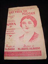 Partition The eyes of maman Berthe Sylva Berto Basso Music Sheet